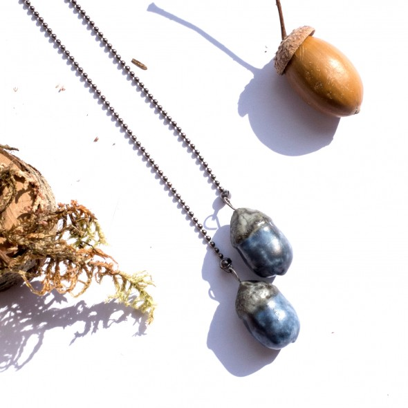Acorn Pendant Necklace From Oak Collection