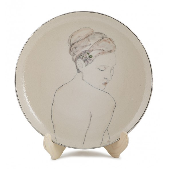 Hand-painted Stoneware Serving Plate