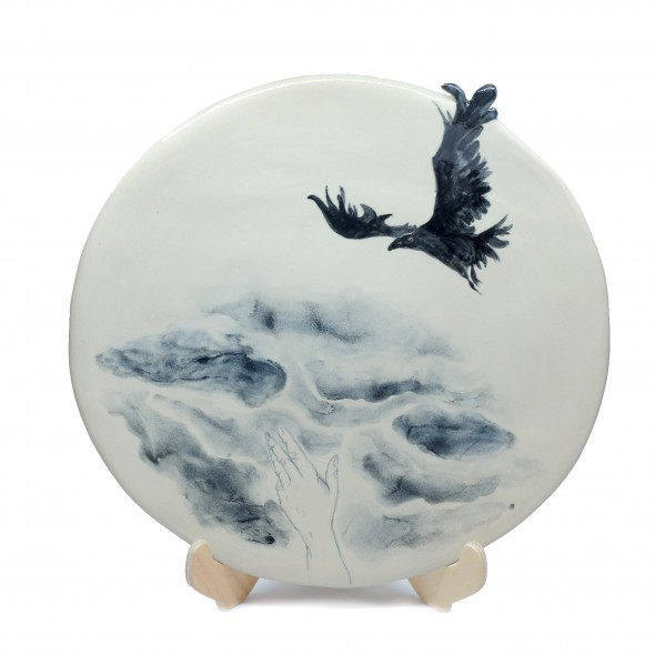 """Freedom"", Hand-painted Stoneware Serving Plate"