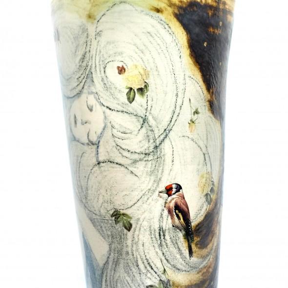 Stoneware Vase According to the Klimt