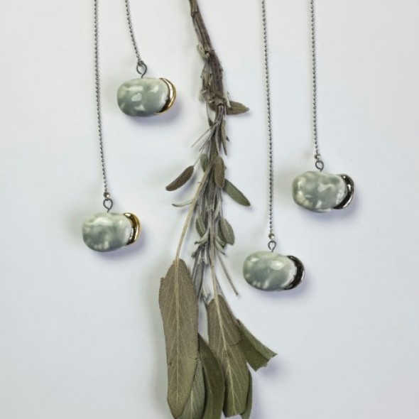 Grey Pendant Necklace From Collection Beans