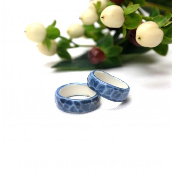 Blue Porcelain Ring
