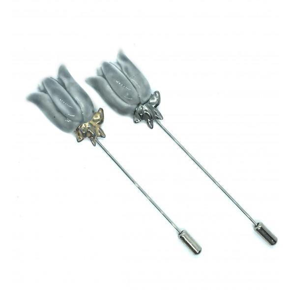 Pilka sagė - smeigtukas Lelija iš kolekcijos flora